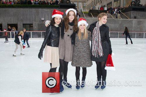 Julia Goldani Telles, Emma Dumont, Bailey Buntain, Kaitlyn Jenkins and Rockefeller Center