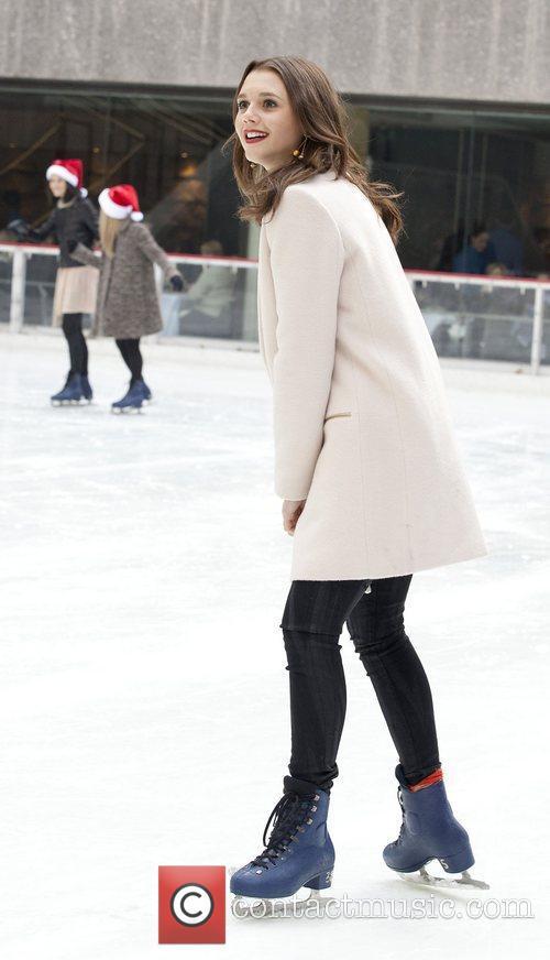 Alexandra Chando at Rockefeller Center Ice Rink during...