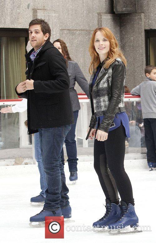 Gilles Marini, Katie LeClerc at Rockefeller Center Ice...