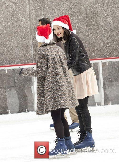 Julia Telles at Rockefeller Center Ice Rink during...