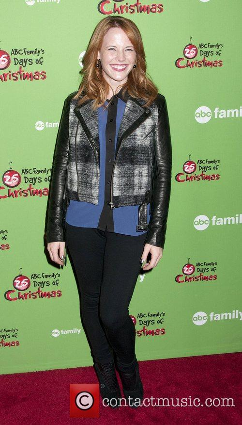 Katie LeClerc at Rockefeller Center Ice Rink during...