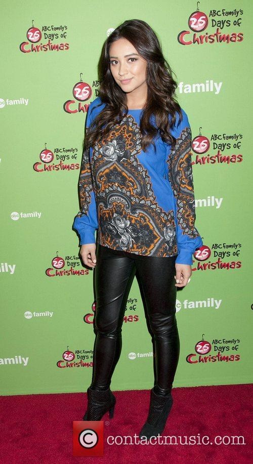 Shay Mitchell at Rockefeller Center Ice Rink during...