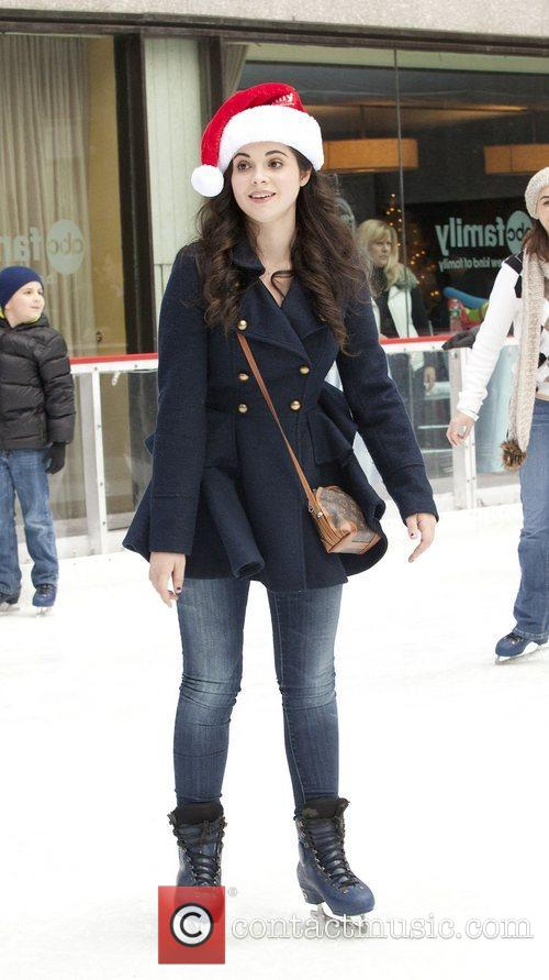Vanessa Marano at Rockefeller Center Ice Rink during...