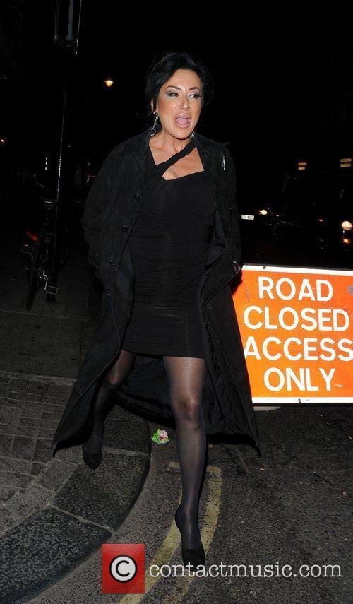 Nancy Dell'Olio leaving 34 Restaurant London, England