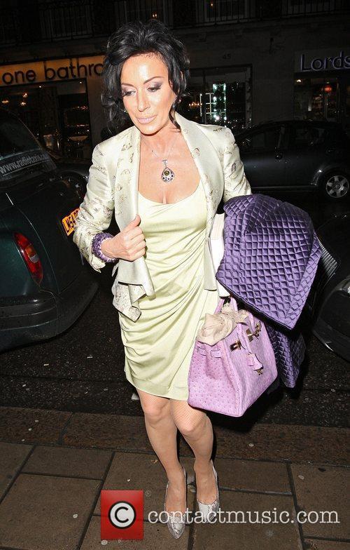 Nancy Dell'Olio arriving at 34 Restaurant in Mayfair