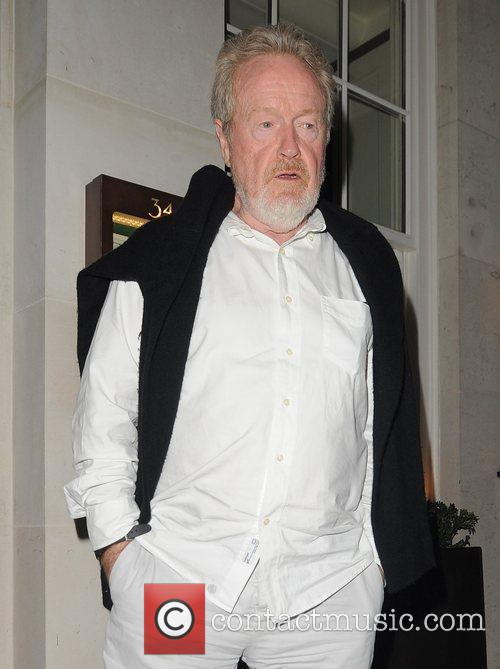 Ridley Scott visits 34 restaurant for a late...