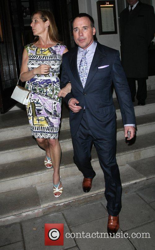 Celebrities leave 34 Restaurant in Mayfair