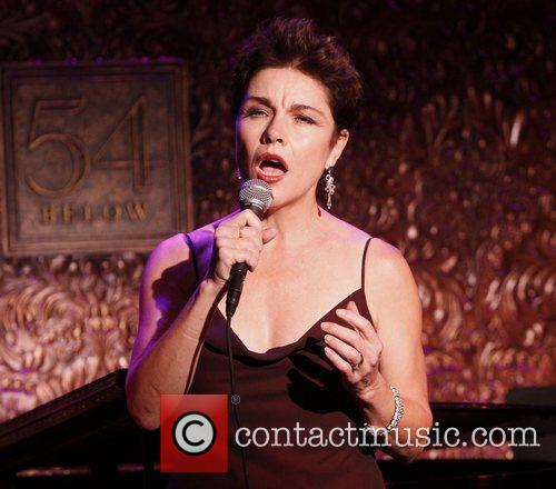 Christine Andreas  in rehearsals for her concert...