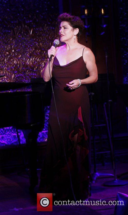 In rehearsals for her concert at '54 Below'...