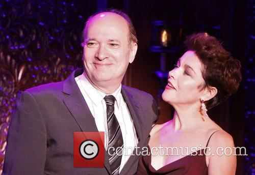 Don Rebic and Christine Andreas in rehearsals at...