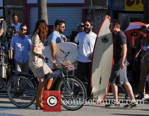 Michelle Monaghan, Topher Grace and Chris Evans 7