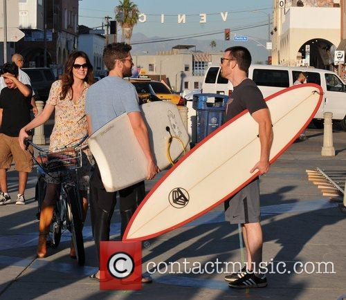 Michelle Monaghan, Topher Grace and Chris Evans 10