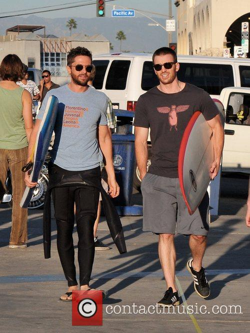 Topher Grace and Chris Evans 2