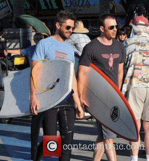 Topher Grace and Chris Evans 3
