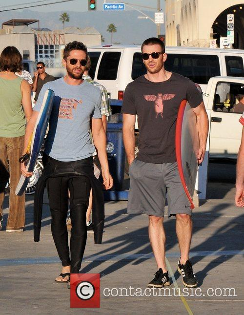 Topher Grace and Chris Evans 5