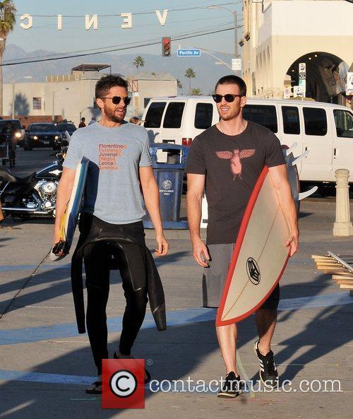 Filming their new movie on Venice Beach, a...