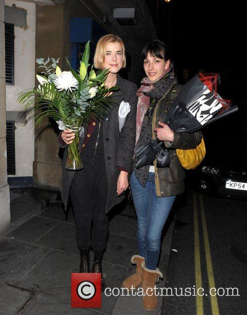 Agyness Deyn, Melanie Gray leaving Trafalgar Studios after...