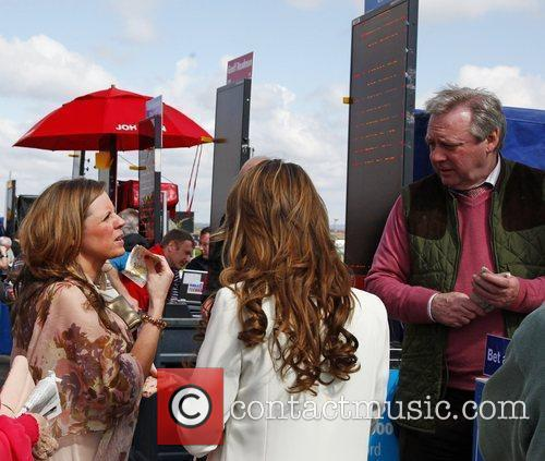 Racegoers - Bookmaker during Liverpool Day at the...