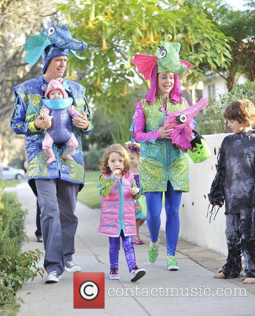 Alexis Denisof, Alyson Hannigan, Satyana and Keeva 4
