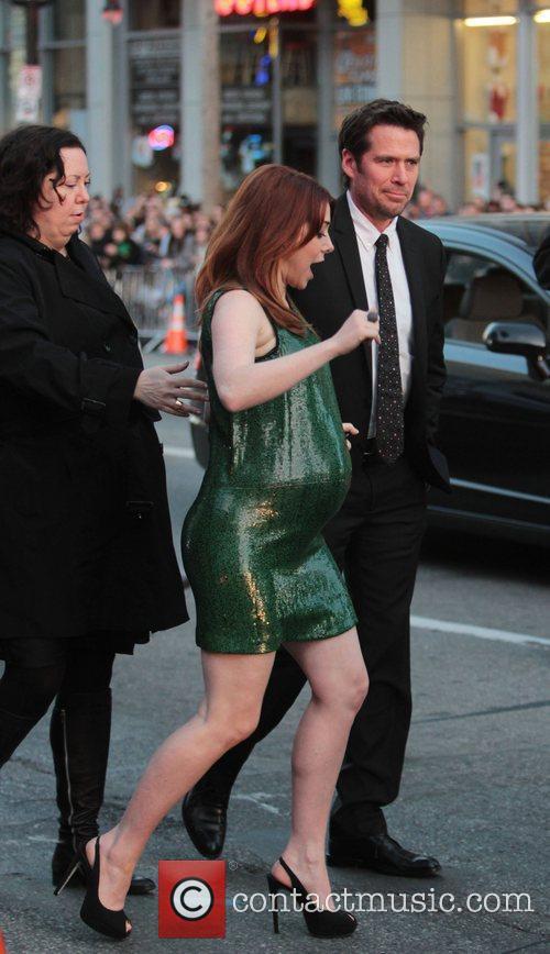 Alyson Hannigan, Alexis Denisof and Grauman's Chinese Theatre 1