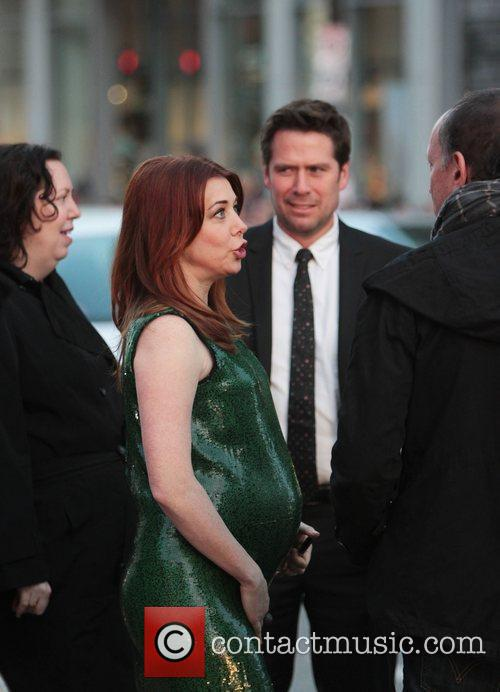 Alyson Hannigan, Alexis Denisof and Grauman's Chinese Theatre 6