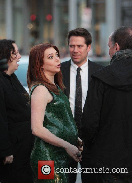 Alyson Hannigan, Alexis Denisof and Grauman's Chinese Theatre 7
