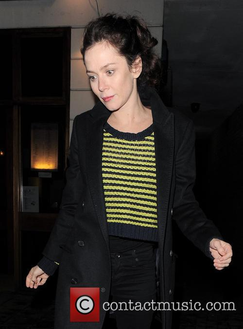 Anna Friel Anna Friel leaves the Vaudeville Theatre...