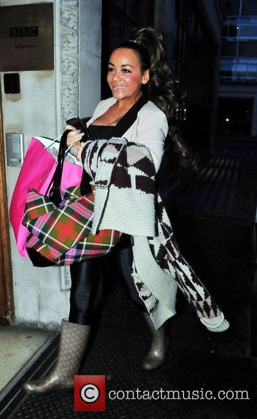 Chelsee Healey arriving at the BBC Radio One...