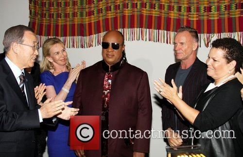 Ban Ki Moon, Stevie Wonder, Sting and Debra Lee 3