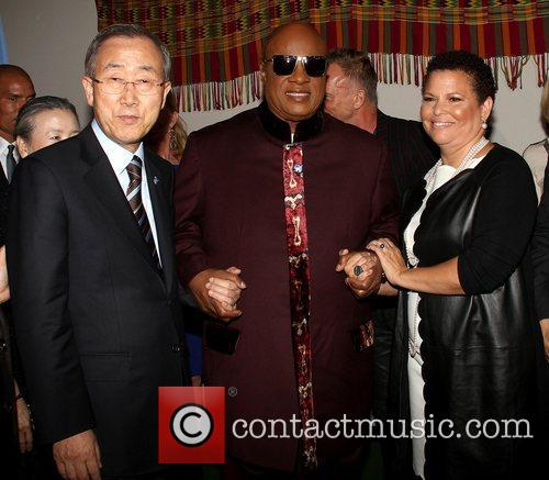 Ban Ki Moon, Stevie Wonder, Sting and Debra Lee 1