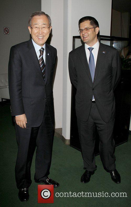 Secretary Ban Ki Moon and Vuk Jeremic 1