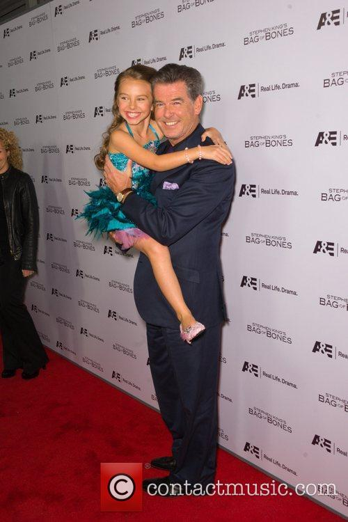 Pierce Brosnan and Caitlin Carmichael 3