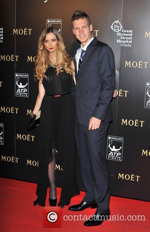 Tomas Berdych and Ester Satorova Barclays ATP World...
