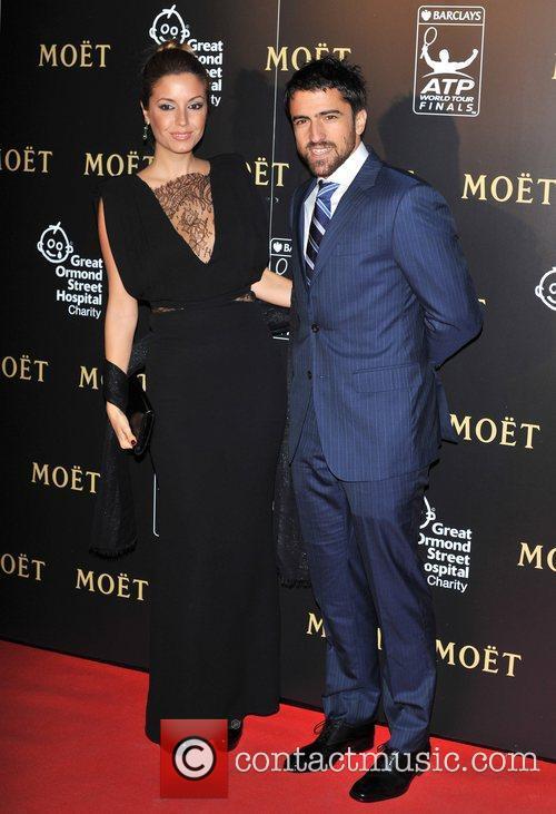 Janko Tipsarevic and Biljana Sesevic Barclays ATP World...