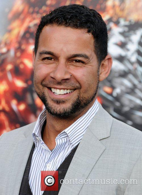 Jon Huertas Battleship premiere at the NOKIA Theatre...