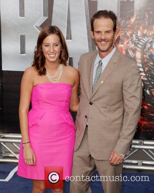 Peter Berg and guest Battleship premiere at the...