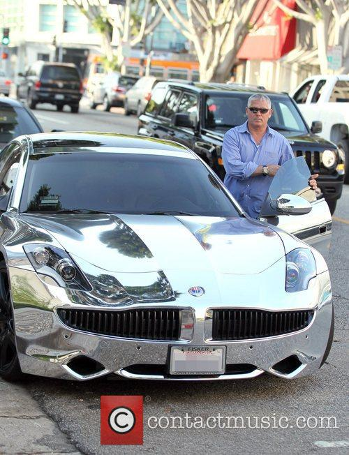 Justin Bieber's chrome Ferrari