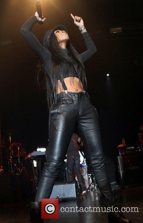 Brandy performing live at the Best Buy Theater...