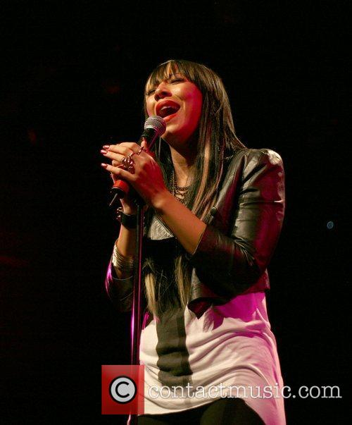 Bridget Kelly performing live at the Best Buy...