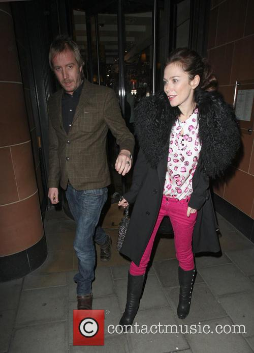 Celebrities leaving C London restaurant in Mayfair...
