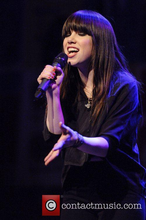Carly Rae Jepsen  performs on stage at...