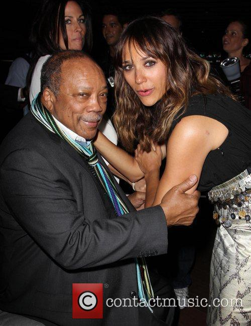 Rashida Jones and Quincy Jones 9