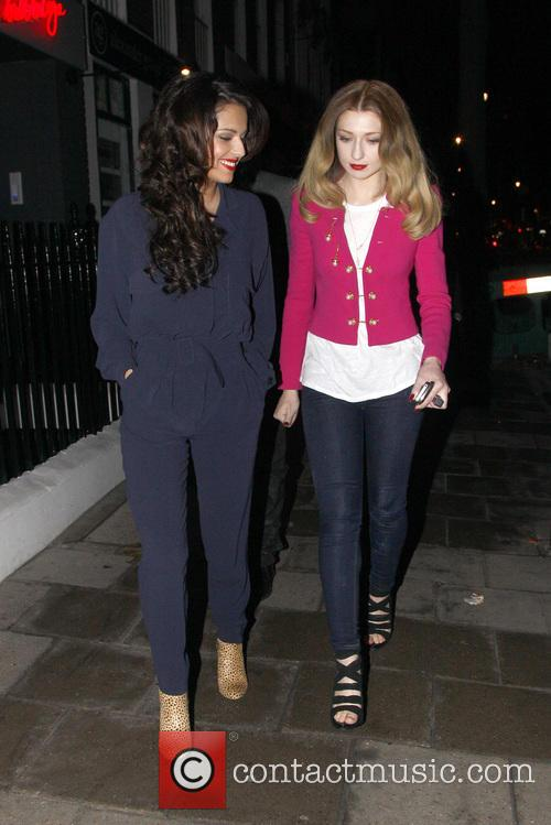 Cheryl Cole and Nicola Roberts 1