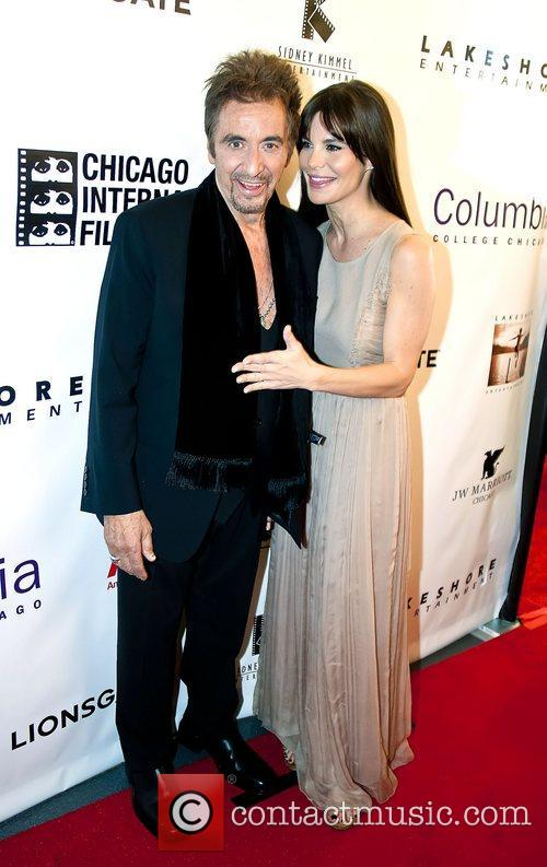 Al Pacino and Lucila Sola 48th Chicago International...