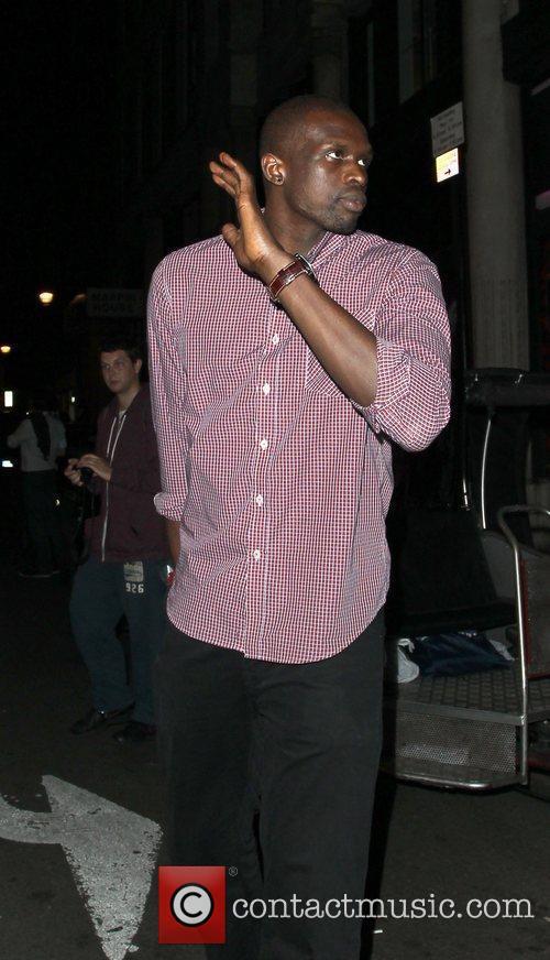 Olympian Luol Deng leaving Chinawhite nightclub London, England