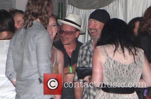 Bono and the Edge attend Dj Luciano's Vagabundos...