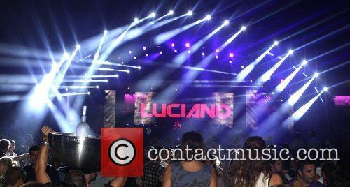 Dj Luciano's Vagabundos open air party at Ushuaia...