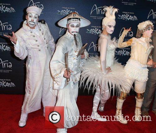 Attends the Zarkana by Cirque Du Soleil swings...