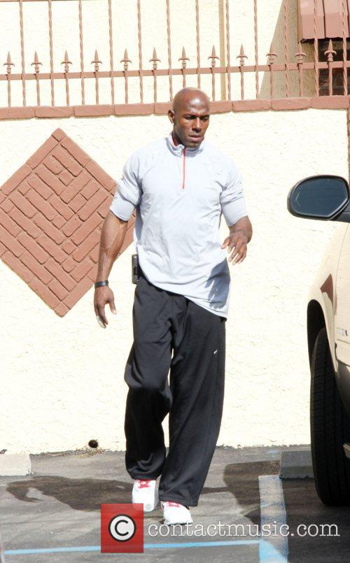 Donald Driver Arriving at a dance studio to...
