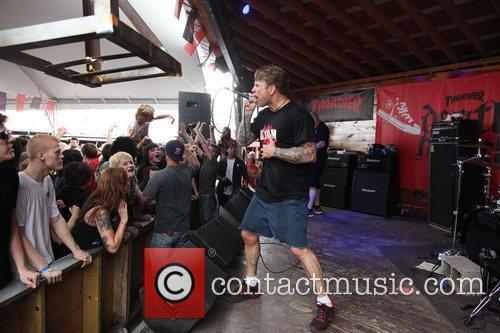 Performing at the Thrasher Magazine and Converse Death...